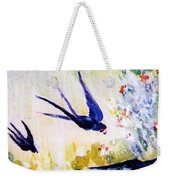 First Swallows Of Summer  Weekender Tote Bag