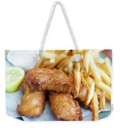 Fish And Chips On A Plate Weekender Tote Bag