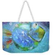 Fish Blue Weekender Tote Bag