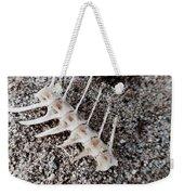 Fish Bones In Sand Weekender Tote Bag