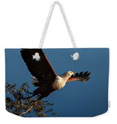 Fish Eagle Taking Flight Weekender Tote Bag