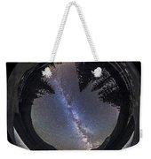Fish-eye Lens Panorama Of Milky Way Weekender Tote Bag