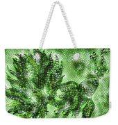 Fish In Green Mosaic 2 Weekender Tote Bag