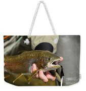 Fish In Hand Weekender Tote Bag