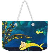 Fish Riding A Unicycle Weekender Tote Bag