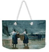 Fisher Girls By The Sea Weekender Tote Bag by Winslow Homer