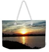 Fisherman's Sunset Horizon Weekender Tote Bag