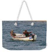 Fishermen In A Boat Weekender Tote Bag