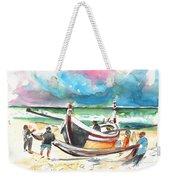 Fishermen In Praia De Mira 03 Weekender Tote Bag