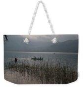 Fishermen On Lake Atitlan Weekender Tote Bag