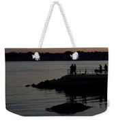 Fishermen Silhouetted By The Sunset Weekender Tote Bag