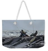 Fishermen With Seagull Weekender Tote Bag