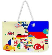 Fishes Map Of Europe Weekender Tote Bag