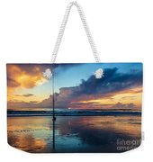 Fishing And Watching The Sunrise Weekender Tote Bag