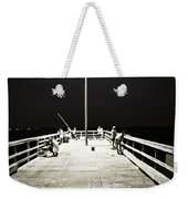 Fishing At Night Weekender Tote Bag