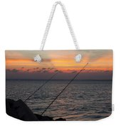 Fishing At Sunset Weekender Tote Bag