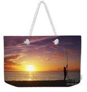Fishing At Sunset Weekender Tote Bag