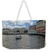 Fishing At The Boardwalk Before The Storm Weekender Tote Bag