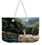 Fishing At  The Crack Of Dawn Weekender Tote Bag