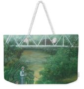Fishing At The Pump House On White Oak Creek Weekender Tote Bag