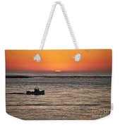 Fishing Boat At Sunrise. Weekender Tote Bag