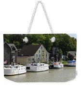Fishing Boats All In A Row Weekender Tote Bag