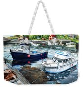 Fishing Boats In Lanes Cove Gloucester Ma Weekender Tote Bag