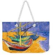 Fishing Boats On The Beach At Saintes Maries De La Mer Weekender Tote Bag