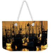 Fishing Boats Sunset Light Weekender Tote Bag