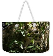 Fishing Cat Weekender Tote Bag