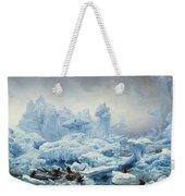 Fishing For Walrus In The Arctic Ocean Weekender Tote Bag by Francois Auguste Biard
