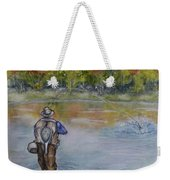 Fishing In Natures Beauty Weekender Tote Bag