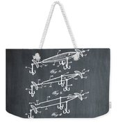 Fishing Lure Patent 1904 Chalk Weekender Tote Bag