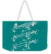 Fishing Lure Patent 1904 Green Weekender Tote Bag