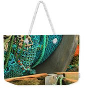 Fishing Net Portrait Weekender Tote Bag