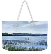 Fishing On Lake Carmi Weekender Tote Bag