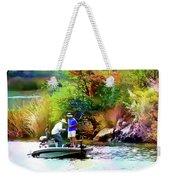 Fishing On Saguaro Lake In Arizona Weekender Tote Bag