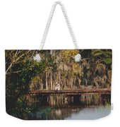 Fishing On The Bridge Weekender Tote Bag