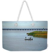 Fishing On The Flats Weekender Tote Bag