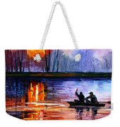 Fishing On The Lake  Weekender Tote Bag