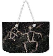 Fishing Petroglyph Weekender Tote Bag