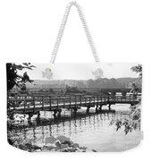 Fishing Pier And Train Tracks Weekender Tote Bag