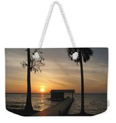 Fishing Pier At Dusk Weekender Tote Bag