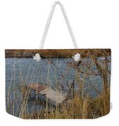 Fishing Platform  Weekender Tote Bag