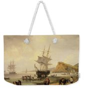 Fishing Scene, Teignmouth Beach And The Ness, 1831 Weekender Tote Bag