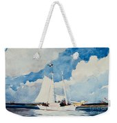 Fishing Schooner In Nassau Weekender Tote Bag