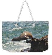 Fishing Sea Lion Weekender Tote Bag