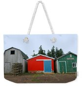 Fishing Shacks  Prince Edward Island  Canada Weekender Tote Bag