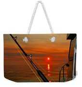 Fishing The Midnight Sun Weekender Tote Bag