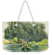 October Morning Fishing The Trinity River Weekender Tote Bag